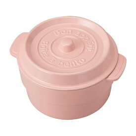 【竹中】お弁当箱 ココポット ラウンド ベビーピンク (上段)230ml、(下段)300ml (T-76404)