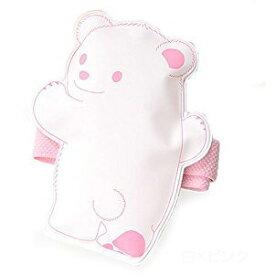 【クロスハーツ】 保冷材 ひえクマ ランチバンド付 白×ピンク 【メール便】