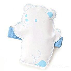 【クロスハーツ】 保冷材 ひえクマ ランチバンド付 白×ブルー 【メール便】