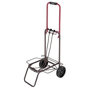 パール金属 キャリーカート 折りたたみ式 ツートンキャリー 耐荷重30kg レッド×ブラウン