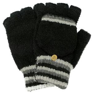 イチーナ 【日本製・婦人用手袋】 ニット 指切り 発熱 保湿 (6592) 【メール便】