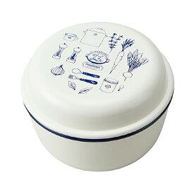 竹中 弁当箱 ラカルト ランチボウル ブルー (上段)230ml、(下段)350ml (T-86249)
