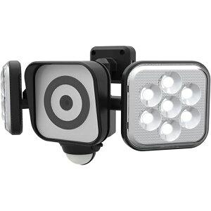 ムサシ RITEX フリーアーム式LEDセンサーライト防犯カメラ(8W×2灯) 防雨型 C-AC8160
