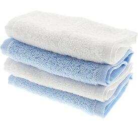 【全家協】キッチンタオル 暮らし良い品 1秒吸水 「スーパーゼロ」使用 2枚入 2個パック S ブルー&ホワイト 計4枚