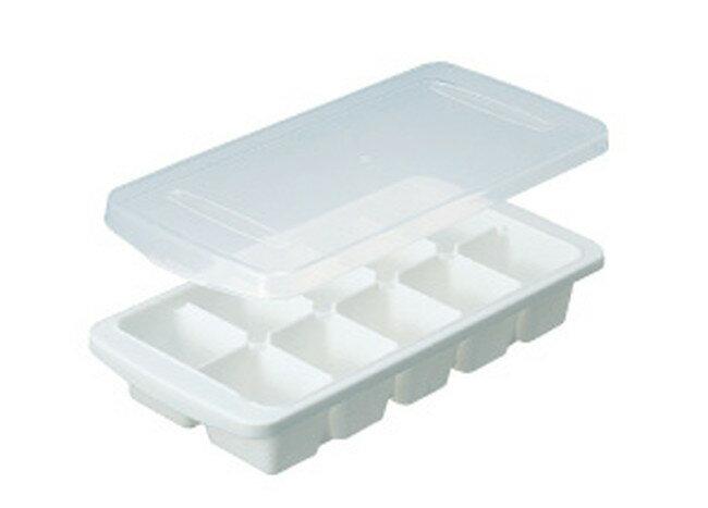 【アスベル株式会社(ASVEL)】【製氷皿】 フタ付ビッグアイストレー L-10(7738) ホワイト