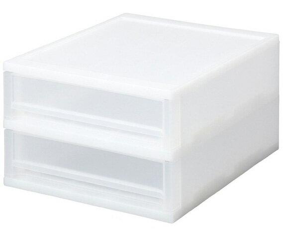 【株式会社サンコープラスチック】収納引き出し ブリオ A4 浅型 2段 ホワイト ()