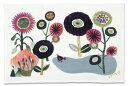 【楠橋紋織】今治タオル ランチョンマット ミウ ティータオル 花とドードー (あの時の庭) 45×70cm ピンク