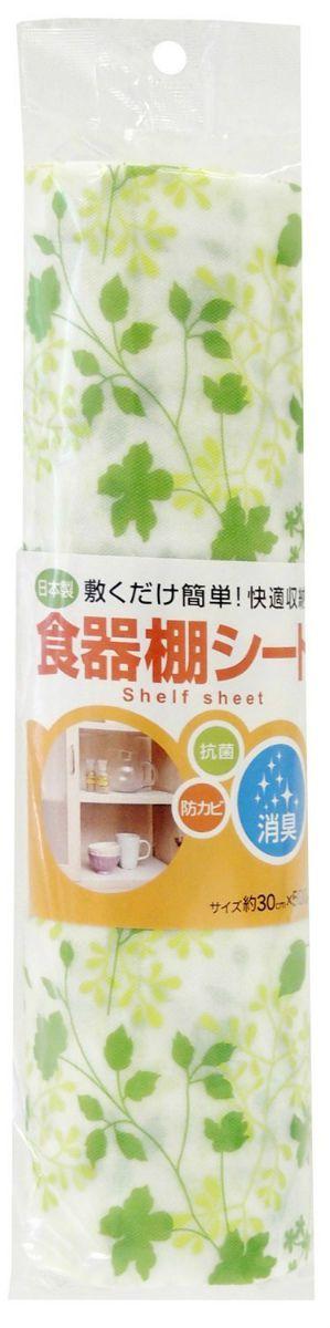 【東和産業】【日本製】 消臭 食器棚シート ピュアリーフ グリーン (約30×500cm)