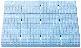 【ケィ・マック】お風呂すのこ 軽~いソフトすのこ 60×44cm mini ブルー SKB-4460