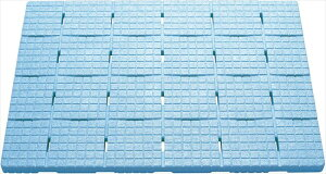 【ケィ・マック】お風呂すのこ 軽~いソフトすのこ 85×60cm セーフティ ブルー SPS-6085