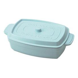 【竹中】お弁当箱 ココポット レクタングル マーメイドブルー 600ml (T-76402)