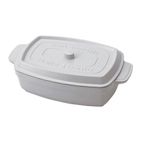 【竹中】お弁当箱 ココポット レクタングル ホワイト 600ml (T-76403)