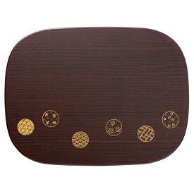宮本産業 ランチョンマット 木目 小紋 くつわプレート 29.4×39×0.4cm
