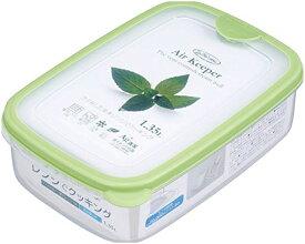 【岩崎工業】 保存容器 エアキーパー フードケース 1.35L (L) グリーン A-032 SG 業務用 家庭用兼用