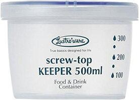 岩崎工業 保存容器 プラスチック スクリュートップキーパー 500浅型 抗菌 B-2271KN