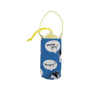フレンズヒル 犬 ブルトン フレンチブルドッグ ペットボトル ホルダー フレンチブルドッグボイス 保冷 保温 ブルー 500ml (ZW-377-104) 【メール便】
