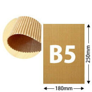 片面パットダンボール(クラフト/約2mm厚)B5サイズ約25cm×18cm 100枚セット【送料区分1】