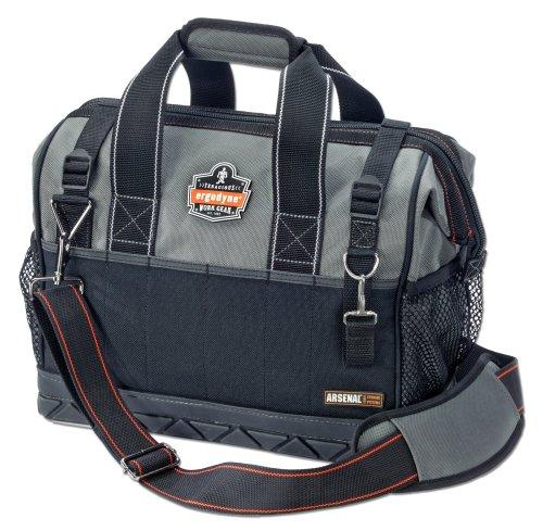 【送料無料】【アーゴダイン 工具用カバン(鞄) 広口標準ツールバッグ グレー M (5802)】 b001g8xi6s