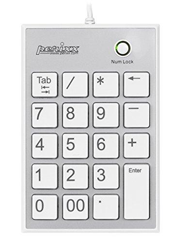 【送料無料】【ぺリックス PERIPAD-202HW ノートパソコン用テンキーボード - Tabキー付 - USBハブ2個付き - 大きなプリント数字 - パンタグラフキー採用 - ホワイト】 b00gaydwrs