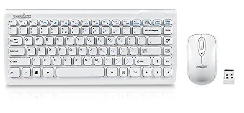 【送料無料】【ぺリックス PERIDUO-707W PLUS 無線 ミニキーボードとマウスセット AES暗号化機能搭載 ミニサイズ 320x141x25mm ピアノ風ホワイト】 b0053v17c6