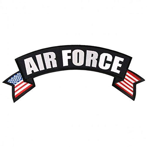 【送料無料】【Hot Leathers AIR FORCE MILITARY BANNER Iron-On / Saw-On Rayon PATCH - 11 x 3 】 b016zrix6e