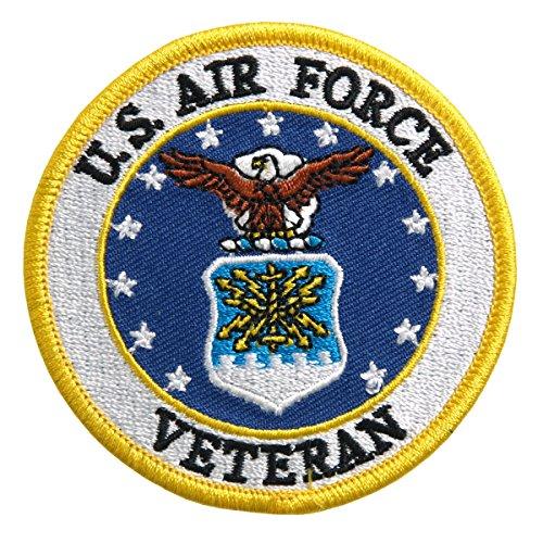 【送料無料】【Hot Leathers US AIR FORCE VETERAN MILITARY Iron-On / Saw-On Heat Sealed Backing Rayon PATCH - 3 x 3 】 b016zrvacs