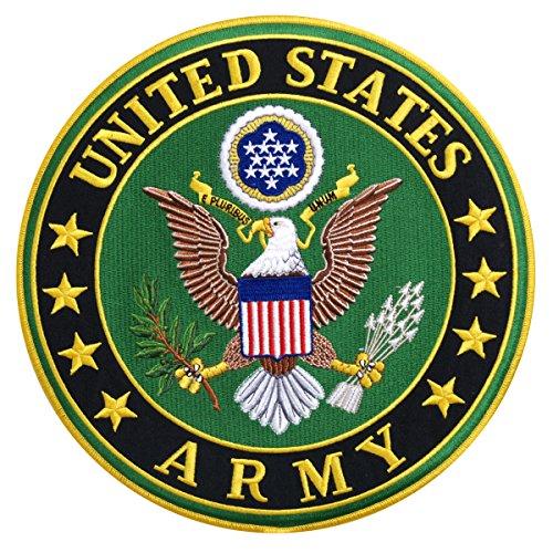 【送料無料】【Hot Leathers US ARMY MILITARY Iron-On / Saw-On Heat Sealed Backing Rayon PATCH - 10 x 10 】 b016zrvbx6