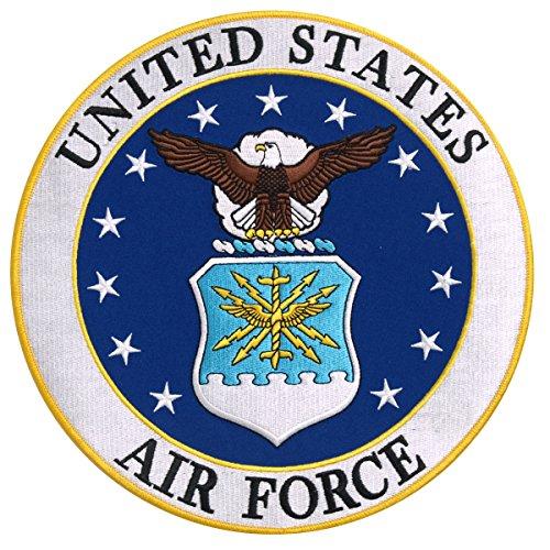 【送料無料】【Hot Leathers US AIR FORCE LOGO MILITARY High Thread Iron-On / Saw-On Rayon PATCH - 3 x 3 Exceptional Quality】 b016zrv6v8
