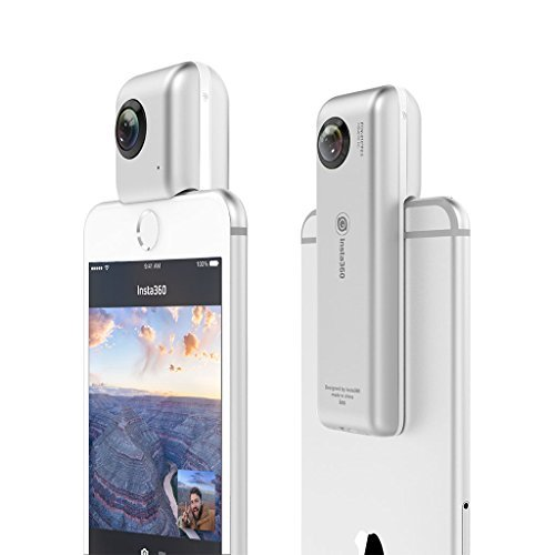 【送料無料】【Insta360 Nano 360 Degree Camera VR 3D Panoramic Point and Shoot Digital Video Cameras Dual Wide Angle Fisheye Lens for iPhone 7 7 Plus and all iPhone 6 series - Pearl White by insta360】 b01m0e8ekr