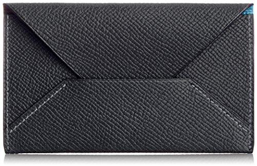 【[メゾンドヒロアン] MAISON de HIROAN 名刺入れ ボレロ 封筒型 日本製 21556 BK (ブラック/ブルー)】 b00q7sfvsu