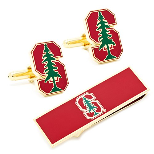 【スタンフォード大学NCAA Mens Cufflinks and Money Clip Gift Set】 b00hyjngvk
