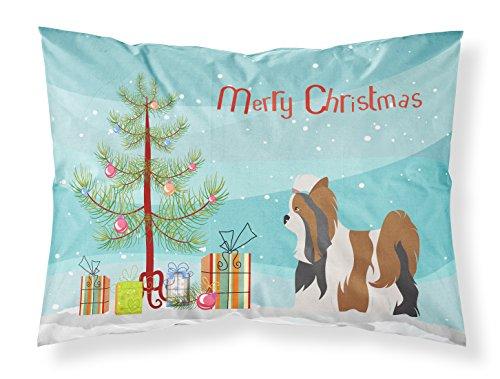 【Caroline 's Treasuresヨークシャーテリアクリスマス枕カバー、標準、マルチカラー】 b0748lrqp7