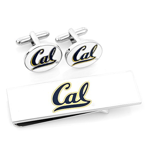 【NCAAメンズUのCalifornia Bears Cufflinks and Money Clip Gift Set】 b00iwn7hhq