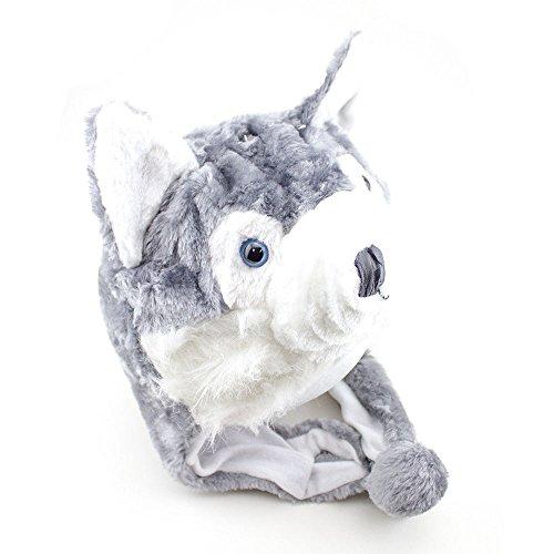 【ハスキーTimber WolfキュートPlush動物冬ハット暖かい冬ファッション(ショート)】 b075hrkzmz