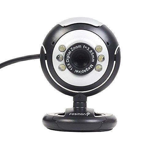 【12.0メガピクセルUSB 6 LED PC Webカメラカメラfor MSN、ICQ、Aim、スカイプ、ネットミーティング、と互換性Win 98 / 2000 / NT / ME / XP / Vista LYSB01FY2WMS6-ELECTRNCS】 b01fy2wms6
