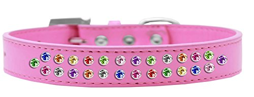 ☆春の特別企画☆エントリーで当店全品ポイント5倍!【Two Row Confetti Crystal Size 20 Bright Pink Dog Collar】 41yZhLfYEDL b0172fu8i4