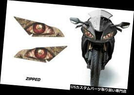 Headlight Eye Graphics Kit Decal Cover For Eyes Kawasaki Z125 Pro 2017 DEATH