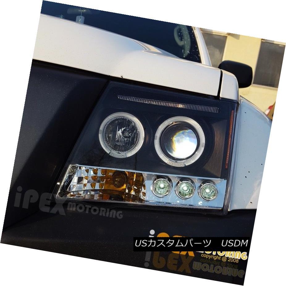 ヘッドライト NEW For 2005-2012 Nissan Xterra Halo Projector LED Headlights Black Headlamps 日産自動車Xterra HaloプロジェクターLEDヘッドライトブラックヘッドランプ