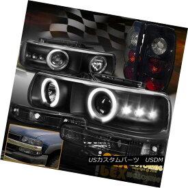 ヘッドライト 1999-2002 Chevy Silverado Halo Projector LED Headlights + Pearl Black Tail Light 1999-2002シボレーシルバラードハロープロジェクターLEDヘッドライト+パールブラックテールライト