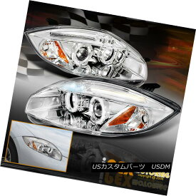 ヘッドライト 2006-2011 Mitsubishi Eclipse GT GS SPYDER LED Halo Projector Chrome Headlights 2006-2011三菱Eclipse GT GS SPYDER LEDハロープロジェクタークロームヘッドライト