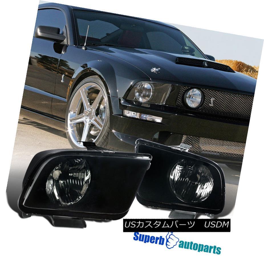 ヘッドライト 2005-2009 Ford Mustang Euro Headlights Lamp Smoke Pair 2005-2009フォードマスタングユーロヘッドライトランプスモークペア