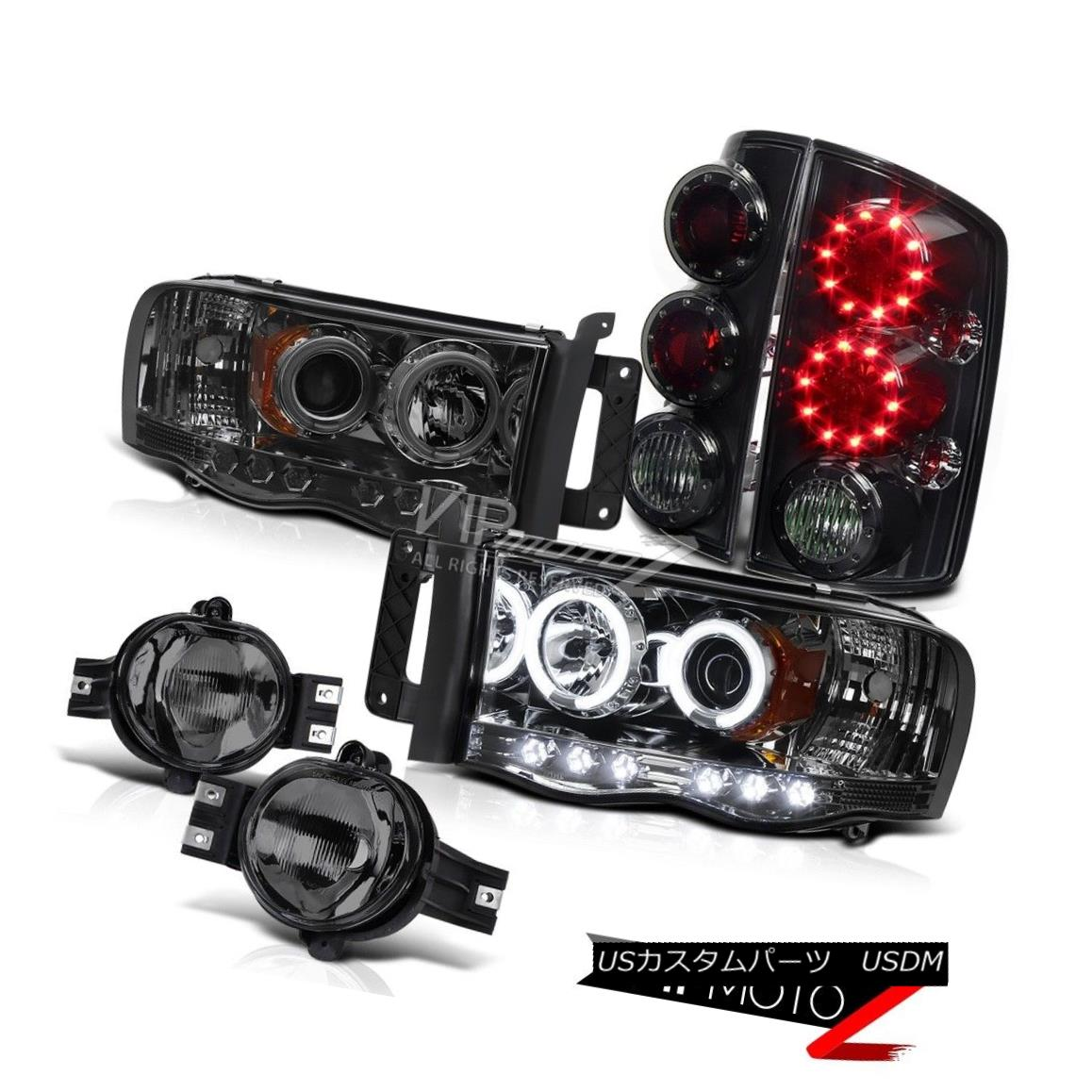 """ヘッドライト """"Beast Mode"""" DRL CCFL Halo Headlamps+LED Rear Brake Light+Fog Lamp(ALL SMOKED) 「ビーストモード」DRL CCFLハローヘッドランプ+ LEDリアブレーキライト+フォグランプ(全てSMOKED)"""