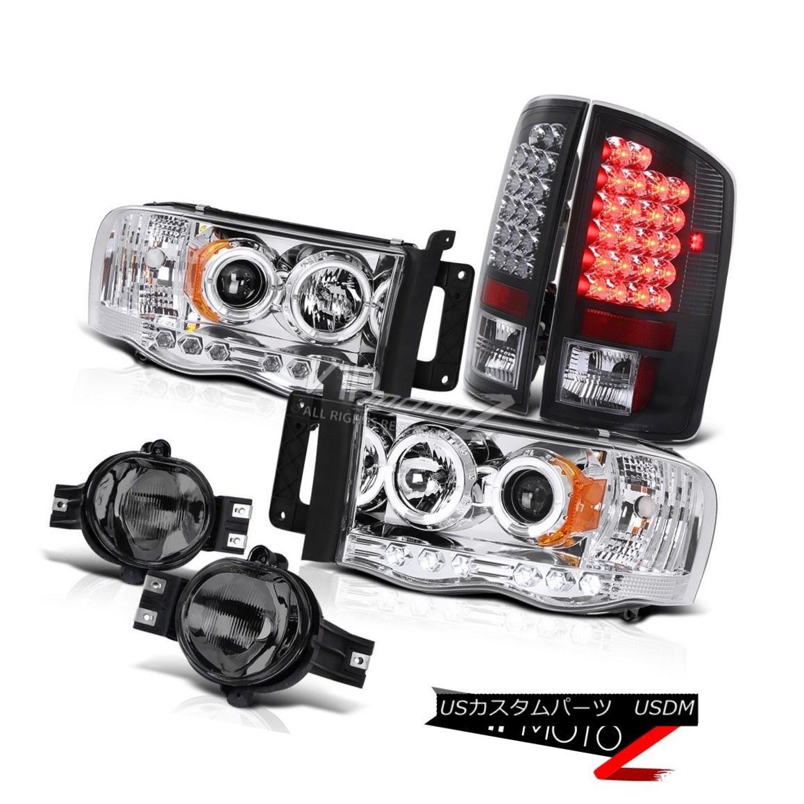 """ヘッドライト """"BEAST MODE"""" Dual Halo Headlamp+Black LED Tail Brake Lights+Tinted Fog Lamps Ram """"ビーストモード""""デュアルヘロンヘッドランプ+ブラックLEDテールブレーキライト+色付きフォグランプランプ"""