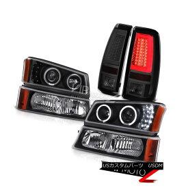 """ヘッドライト 03-06 Silverado Taillights Black Turn Signal Headlamps """"Lava Tube"""" Light Bar LED 03-06シルバラード・ティアライトブラック・シグナル・ヘッドランプ「Lava Tube」ライト・バーLED"""