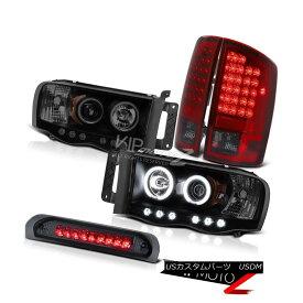 ヘッドライト 02-05 Ram Turbo Diesel Laramie Projector Halo DRL Headlights LED Rear Tail Light 02-05ラムターボディーゼルララミープロジェクターHalo DRLヘッドライトLEDリアテールライト