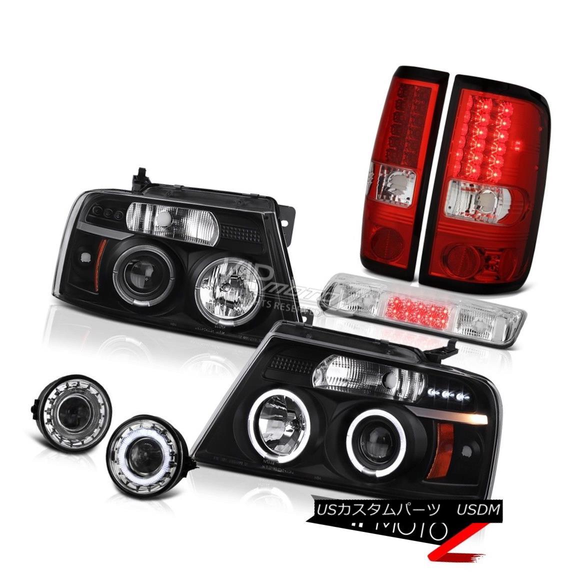 ヘッドライト 06-08 Ford F150 FX4 Foglights Roof Cab Lamp Black Headlamps Red Tail Lights LED 06-08 Ford F150 FX4フォグライトルーフキャブランプブラックヘッドランプレッドテールライトLED