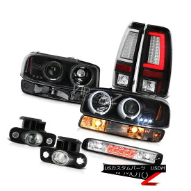ヘッドライト 99-02 Sierra SL Rear Brake Lamps Roof Cab Lamp Parking Fog Headlamps Dual Halo 99-02 Sierra SLリアブレーキランプルーフキャブランプパーキングフォグヘッドランプデュアルヘイロー