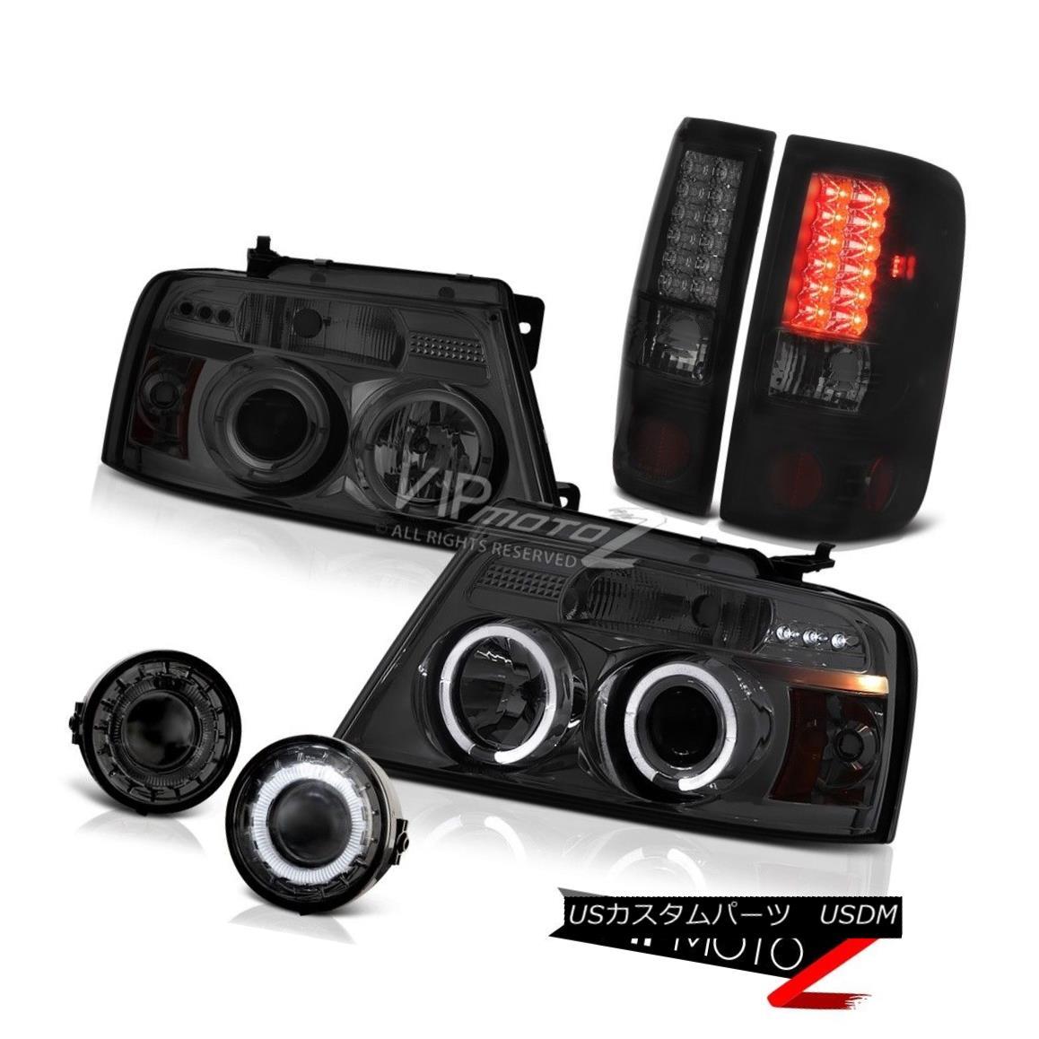 """ヘッドライト 06-08 Ford F150 <BEAST MODE> Projector Headlight Fog Brake Lamps""""Phantom Smoked"""" 06-08 Ford F150< BEAST MODE> プロジェクターヘッドライトフォグブレーキランプ """"Phantom Smoked"""""""