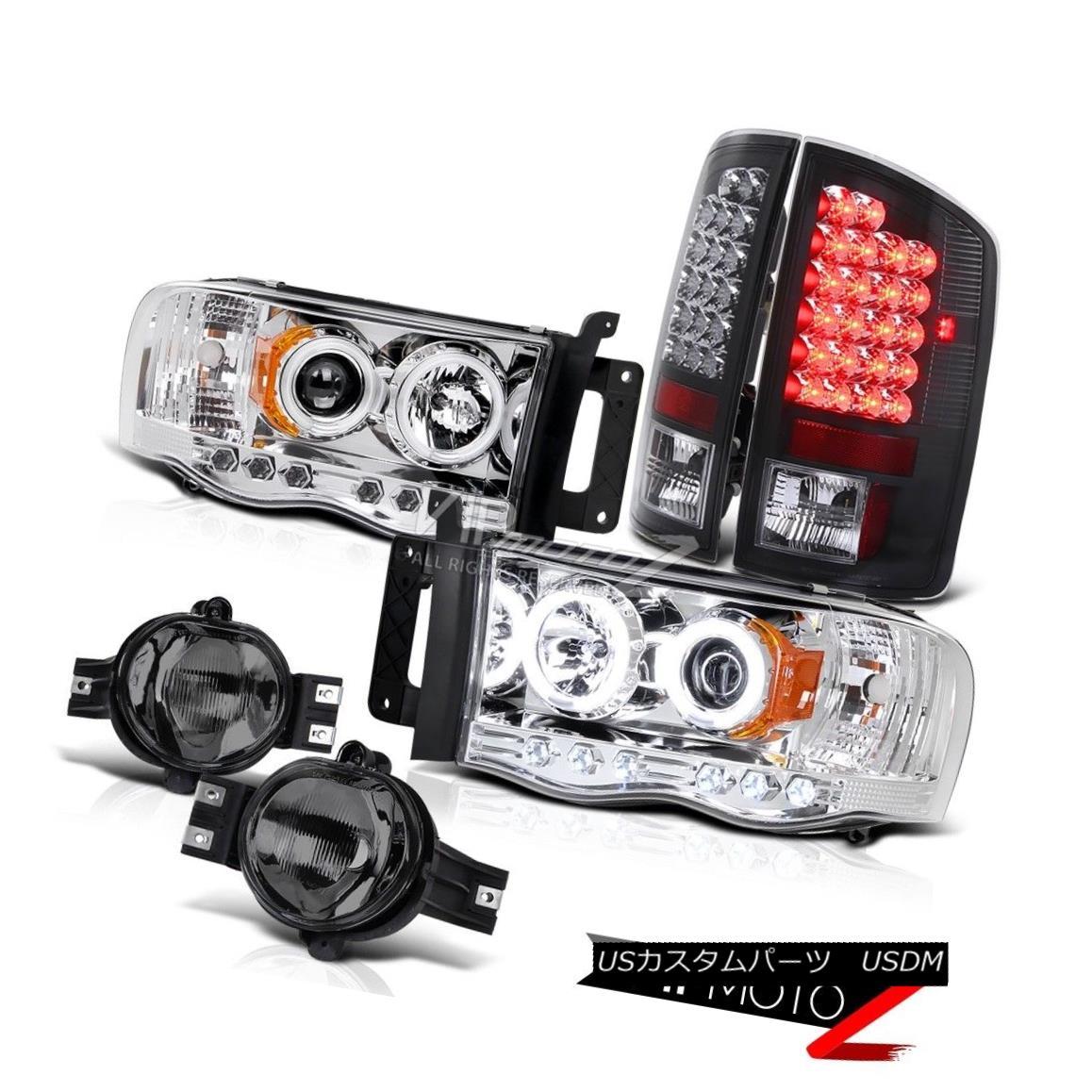 """ヘッドライト AWESOME 02-05 Dodge Ram CCFL Halo Headlight+""""Error Free"""" LED Tail+Fog Light SLT 素晴らしい02-05ダッジラムCCFLハローヘッドライト+ """"Err または"""" Free """"LEDテール+フォグライトSLT"""