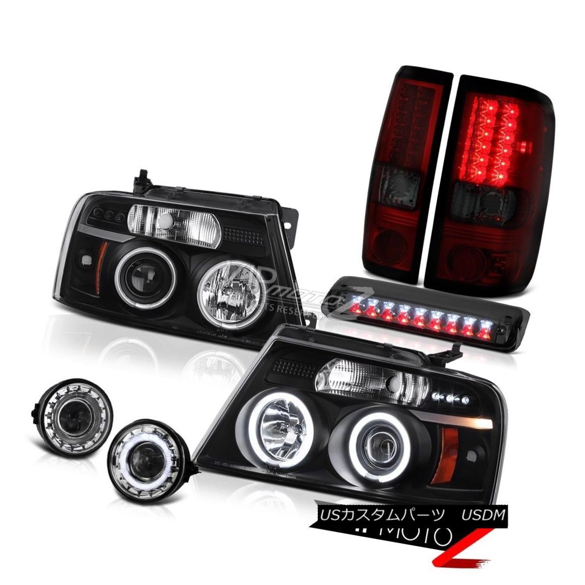 ヘッドライト 06 07 08 Ford F150 FX4 Foglamps Smoked Roof Cab Light Black Headlamps Taillights 06 07 08フォードF150 FX4フォグランプスモークルーフキャブライトブラックヘッドランプテールランプ